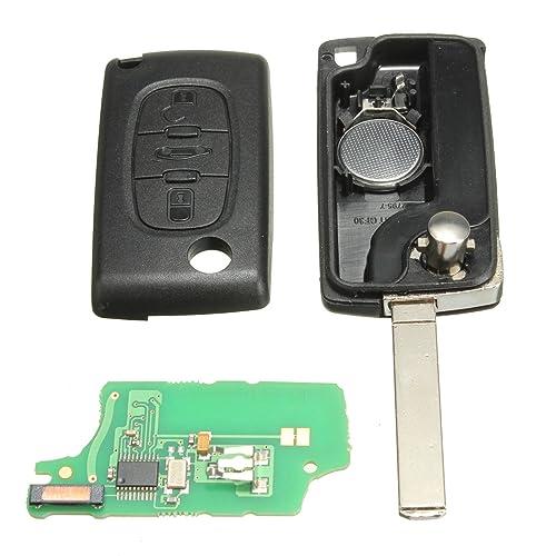 katur 433 MHz 3 botones carcasa de mando de coche batería de repuesto ID46 con chip