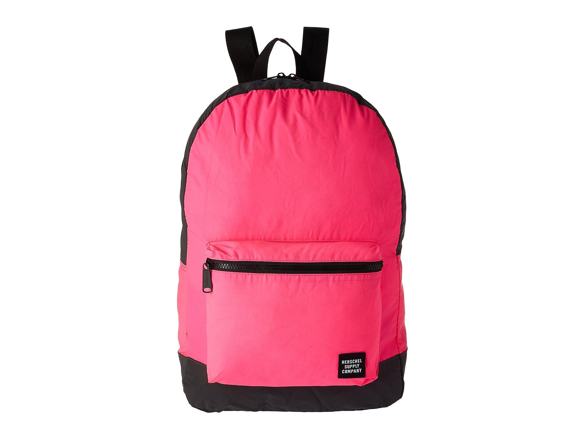 c6fe36bf15 Herschel Supply Co. Packable Daypack In Neon Pink Reflective Black  Reflective