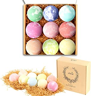 Bath Bombs Gift Set Mixed Color Large Natural Organic Relax Bath Spa Bomb Kit for Women Men Children Fizzy Mild Super Nice Scents Handmade