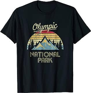 Vintage Retro Olympic National Park Mountain T Shirt