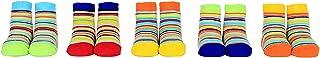 Cucamelon, Baby Stripey 5 pares de calcetines 0-12 meses en caja de regalo