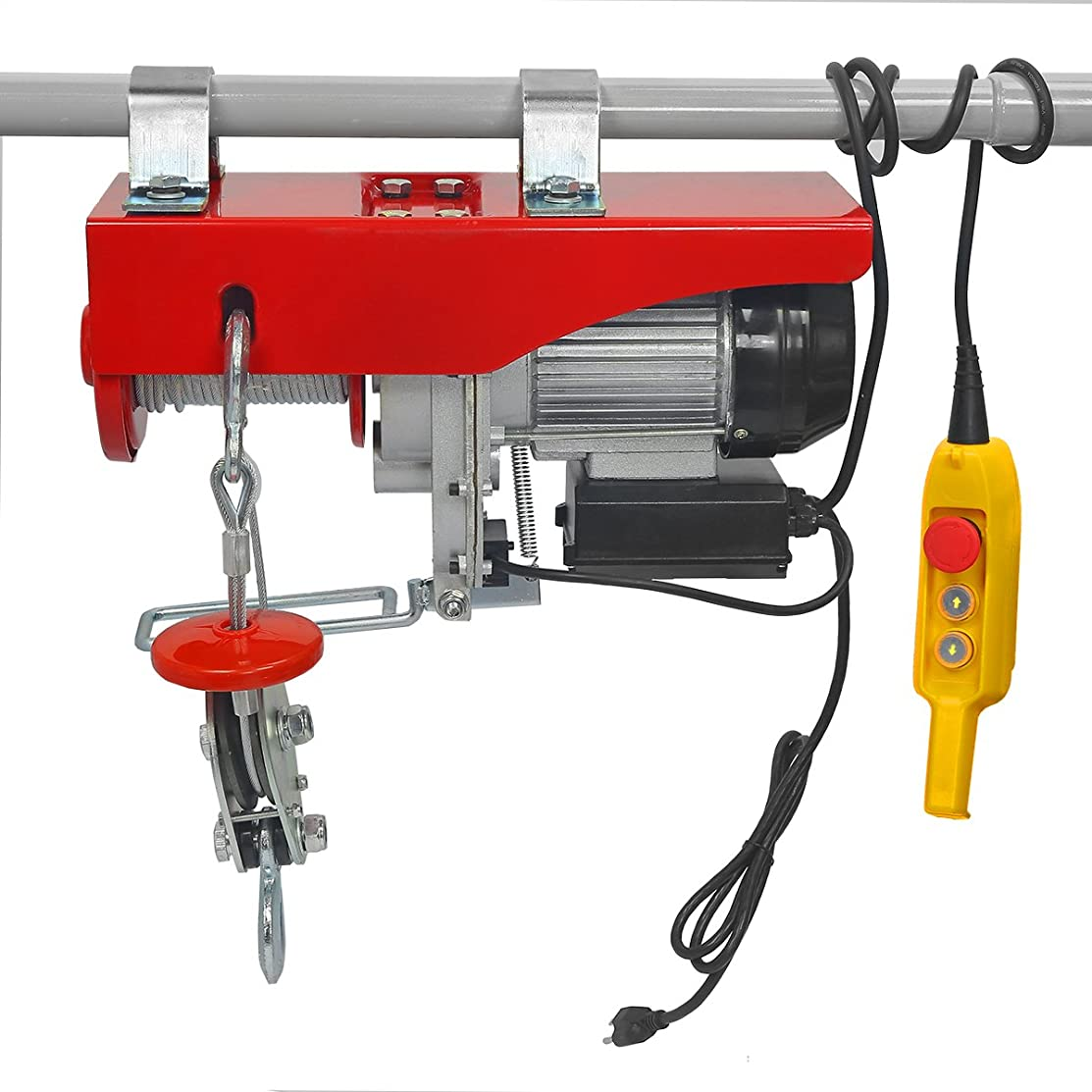Electric Hoist Automatic Lift 2000LB Capacity with Remote Control Auto Shop Overhead