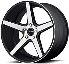 KMC KM685 DISTRICT Satin Black Machined Face Wheel (18 x 8. inches /5 x 72 mm, 38 mm Offset)