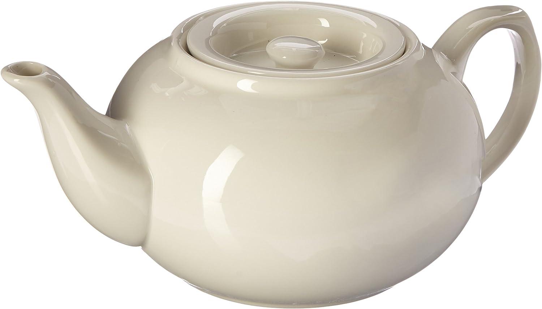 Adagio Th/éi/ère en porcelaine avec panier infuseur Blanc 600 ml