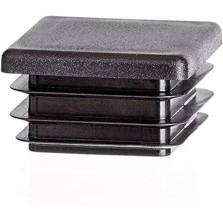10 pcs bouchon pour tube rectangulaire 120x80 gris plastique Embout bouchons dobturation