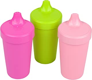 Re-Play Made in The USA 3pk Toddler Feeding No Spill Sippy Cups for Baby, Toddler, and..