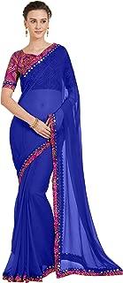 Sourbh Women Chiffon Saree with Bandhani Blouse Printed Sari(5681_with Color Option)