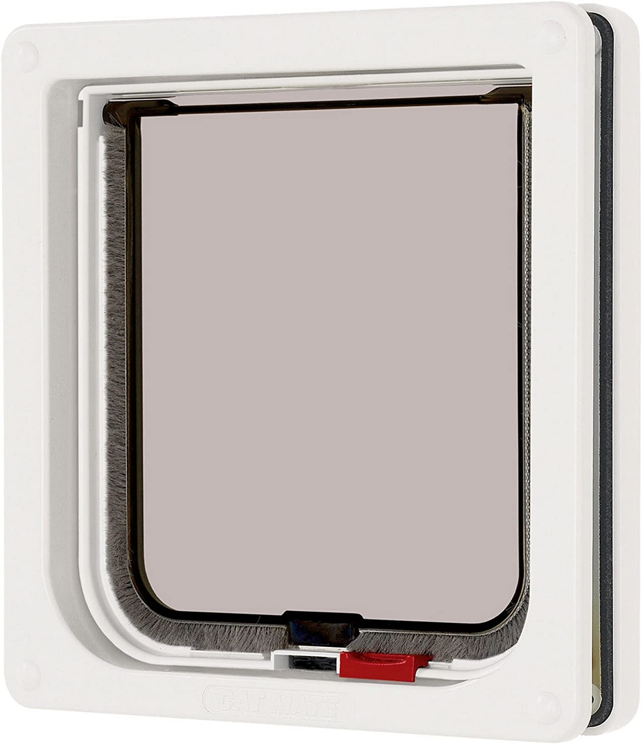 Ani Mate Inc Industry No. 1 Cat 304 Small Flap Locking Door White - Complete Free Shipping