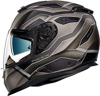 NEXX SX.100 SX100 iFlux Black MT Full Face Motorcycle Helmet (M)