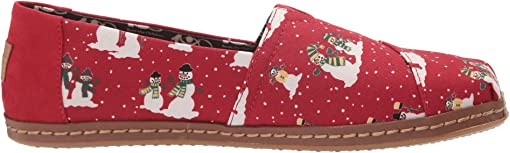Pompeian Red Cozy Snowmen Leather Wrap