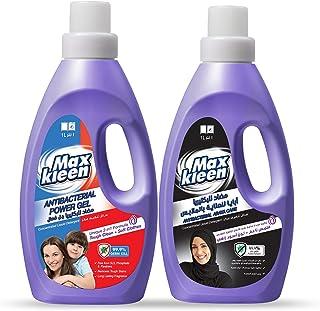 Maxkleen Liquid Detergent Antibacterial 1L and Abaya Wash 1L