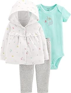 Carter's Baby Girls' Cardigan Sets (Ivory/Mint Unicorns, 9 Months)