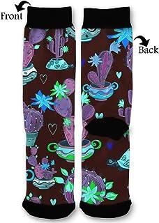 BLongTai Knee High Compression Socks Cool Shark Penguin for Women and Men Sport Crew Tube Socks