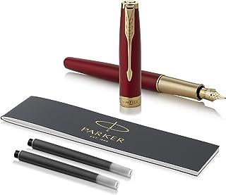 派克(PARKER)钢笔/签字笔宝石红色金夹商务办公礼品?礼盒装优质笔尖