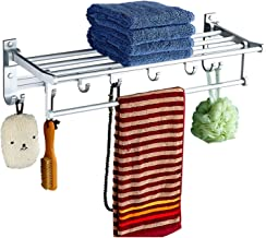 Towel Rack Without Holes Towel Bar Self Adhesive Bathroom Brushed SUS 304 Stainless Steel Bath Wall Shelf Rack Hanging Tow...