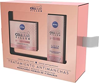 NIVEA Hyaluron Cellular Filler pack tratamiento antimanchas con ácido hialurónico caja de regalo con crema de día con FP...
