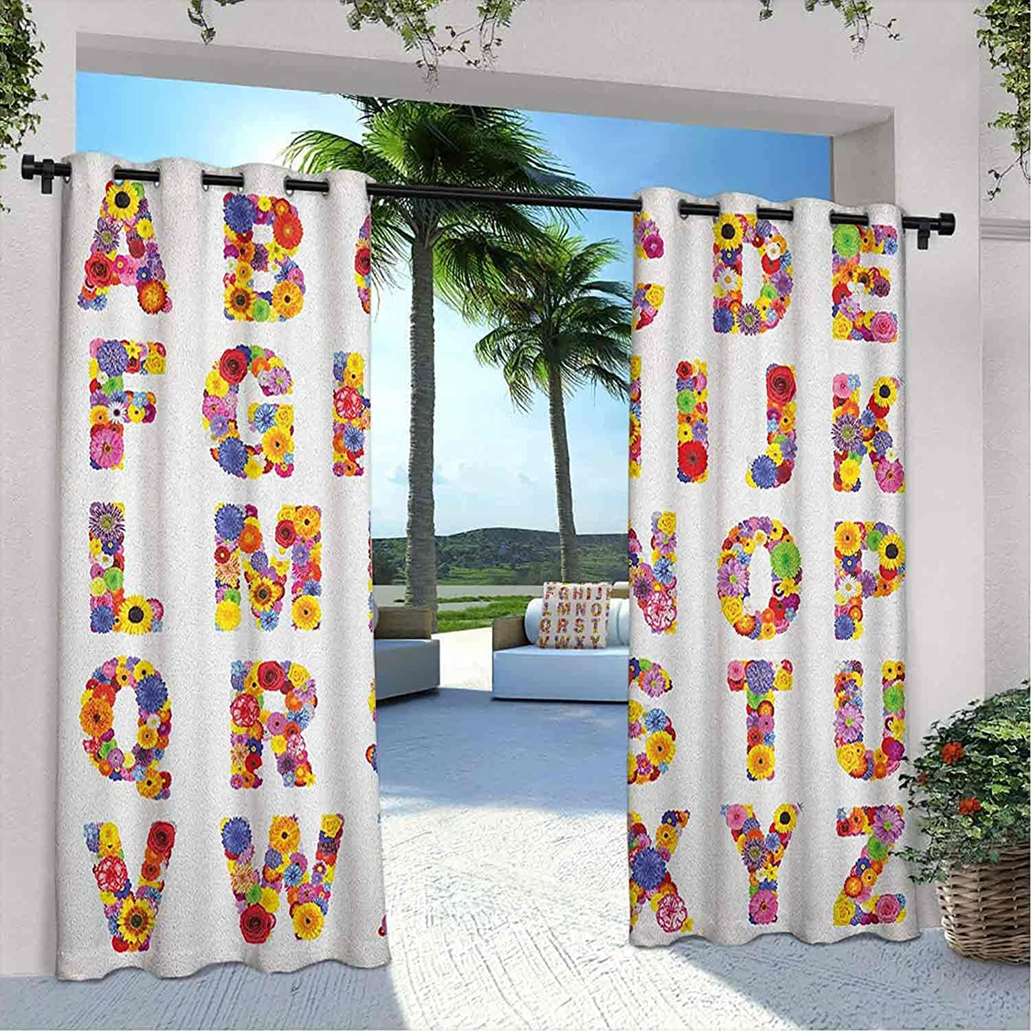 Outdoor Privacy Letters Curtain Colorful Alphabet 5 ☆ very popular with Flowers Seasonal Wrap Introduction