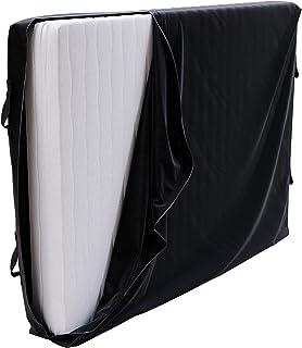 Housse de Protection Stockage et Déménagement Matelas 140x200 x 30 cm - Lit Double 140 x 200 cm - 4 Poignées et Zipper - H...