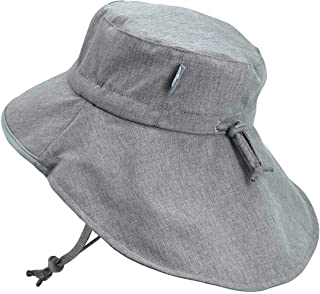Baby Toddler Kids Wide Brim 50+ UPF Sun-Hat with Neck Flap Chin-Strap Adjustable