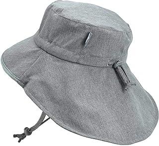 JAN & JUL Baby Toddler Kids Wide Brim 50+ UPF Sun-Hat with Neck Flap Chin-Strap Adjustable
