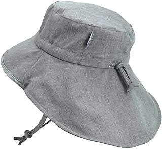 Baby Toddler Kids Wide Brim 50+ UPF Sun-Hat with Neck Flap Chin-Strap Adjustable