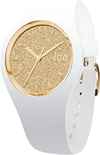 Ice-Watch - ICE Glitter White Gold - Women's Wristwatch with Silicon Strap