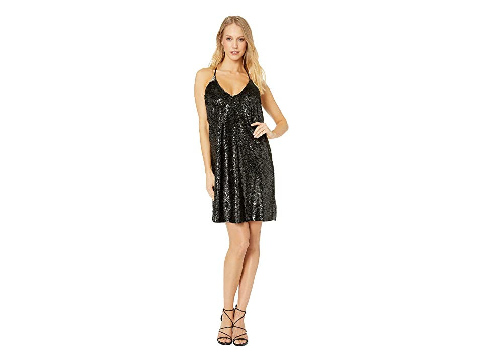 Bishop + Young After Hour Sequin Mini Dress (Black/Gold) Women