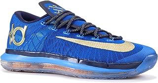 Men's KD VI Elite Premium Blue/Gold Basketball Shoes 683250 474 Size 14