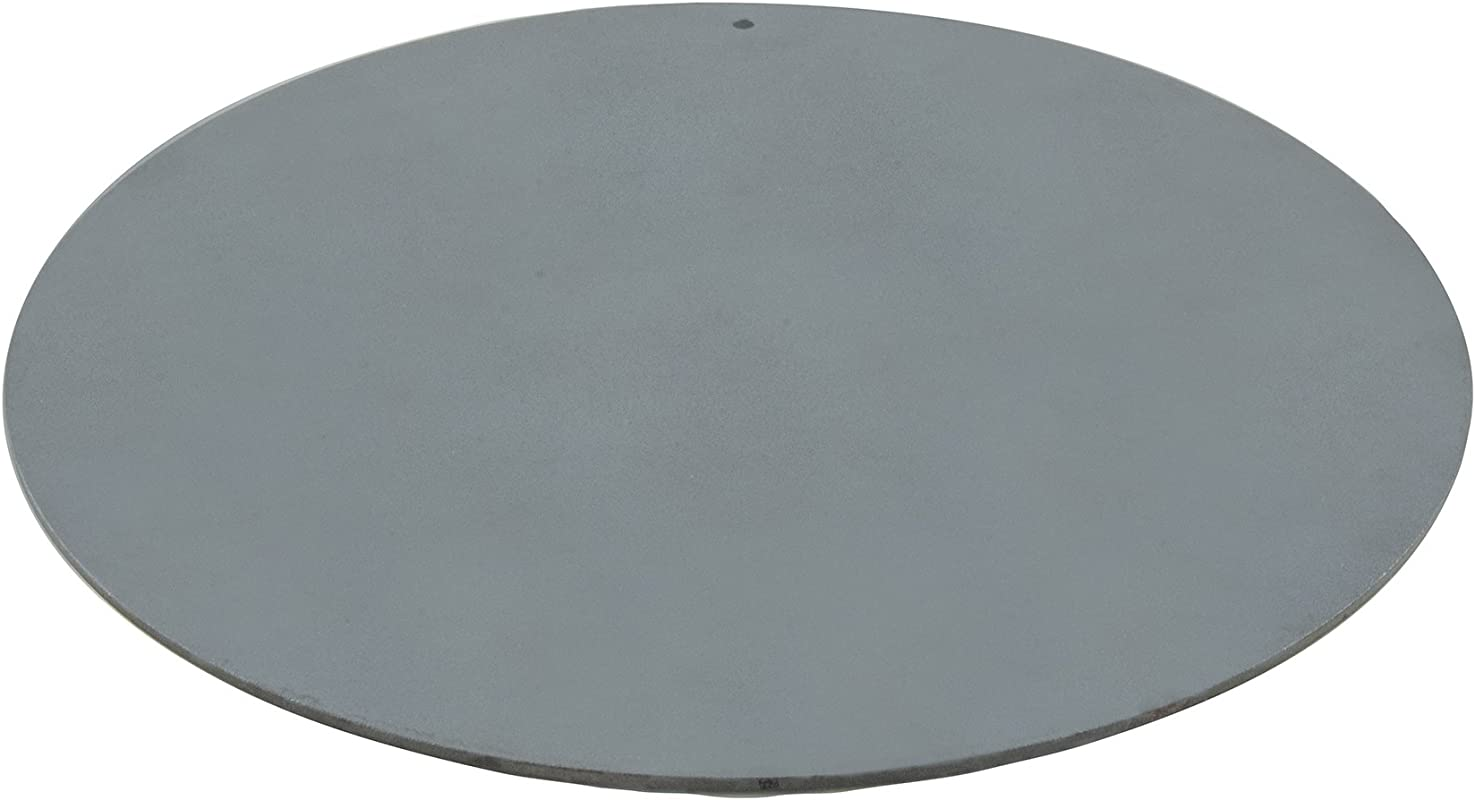 Pizzacraft PC0307 Round Steel Baking Plate For Oven Or BBQ Grill 14 Diameter