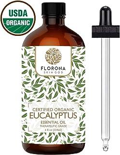 FLORONA Organic Eucalyptus Essential Oil 4 oz USDA Certified Organic