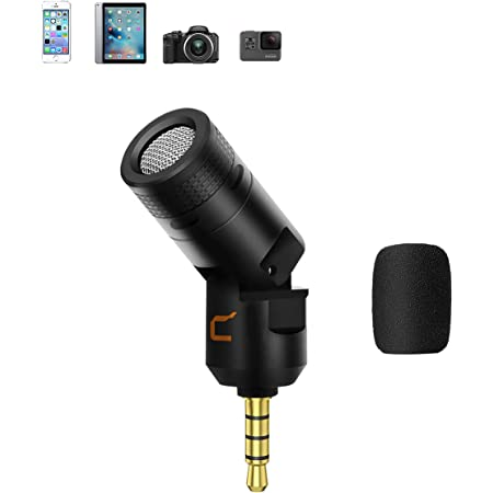 Comica CVM-VS07小型マイクスマホマイク 単一指向性 外付けマイクビデオマイク GoProマイク DSLR カメラマイクVlogging YouTube(アダプター不要)