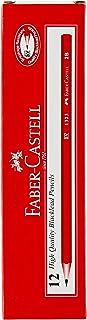 Faber-Castell PL1323-2B Blacklead 12-Pieces Graphite Pencil, 2B,Red