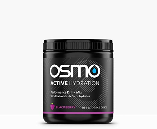 OSMO Nutrition - Active Hydration - During-Exercise Hydration Powdered Drink Mix - Fastest Way to Rehydrate - Improves Power Output & Endurance - Blackberry - 40 Serving Tub