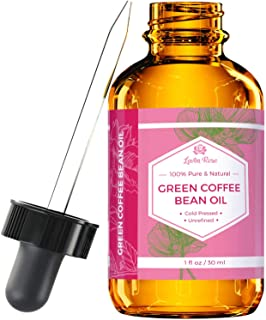 #1 TRUSTED Green Coffee Bean Oil by Leven Rose - 100% Natural Pure Cold Pressed Unrefined Coffeebean Oil For Around Eyes, Face, Nails, Skin, And Hair- 1 oz Bottle (1 ounce)