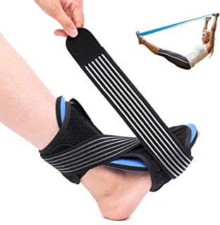 CHARMINER Plantar Fasciitis Night Splint Foot Drop Orthotic Brace, Adjustable Elastic Dorsal Night Splint for Sleep Support, Effective Relief from Plantar Fasciitis Pain, Heel, Arch Foot Pain