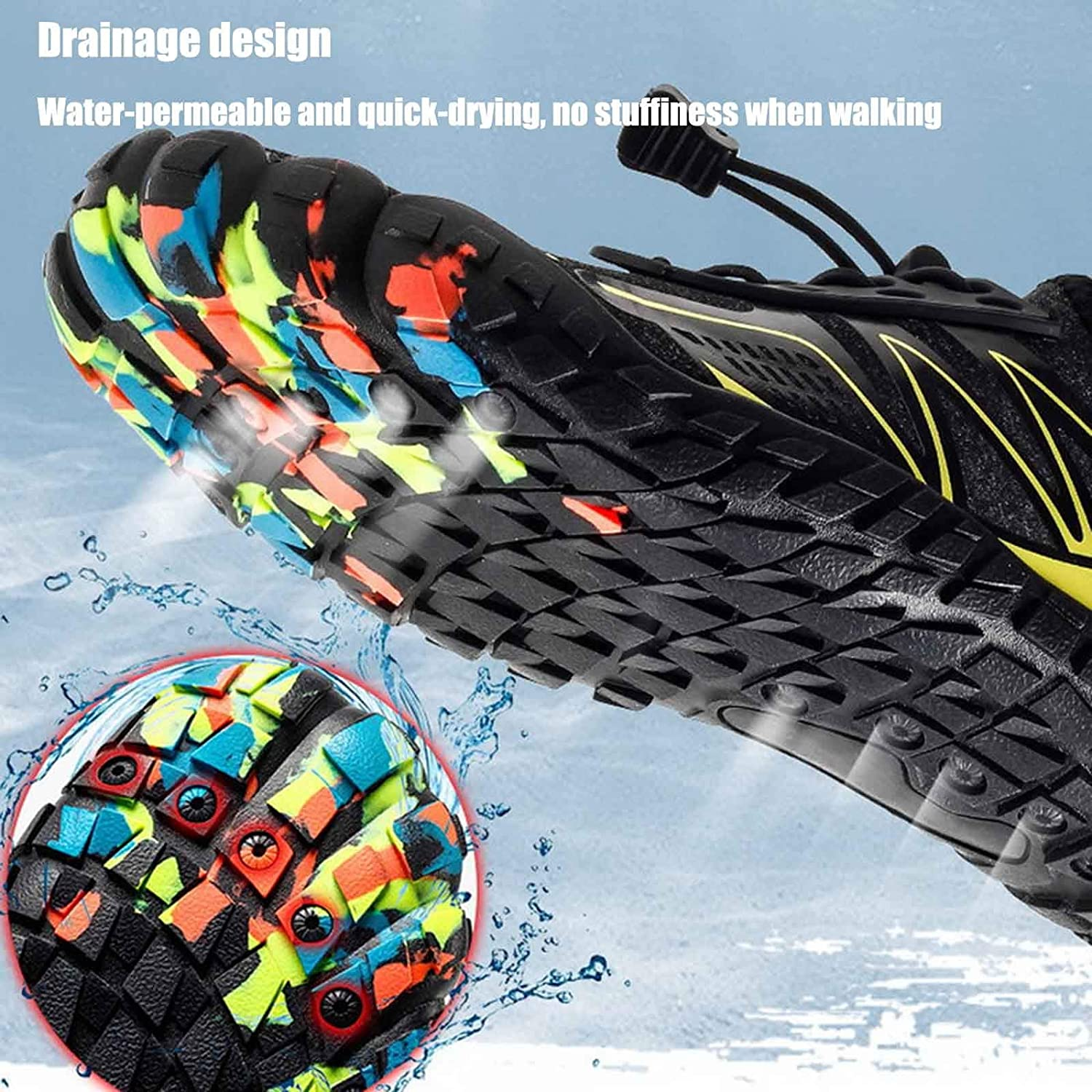 generetic Water Shoes Mens Womens Barefoot Quick Dry Water Sports Shoes Summer Outdoor Sand and Beach Sandals Casual Breathable Non-Slip for Swim Surf Beach Boating Snorkeling Diving Lake Yoga