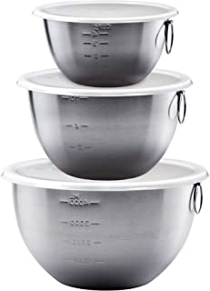 Tovolo 81-1947C Tight Seal Stainless Steel Mixing Bowls with Lids, Set of 3