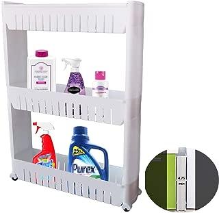 PENGKE 3 Tier Slim Storage Cart,Gap Storage Slim Slide Out Storage Shelving Unit Organizer for Narrow Spaces,Like Laundry Room,Bathroom,Kitchen