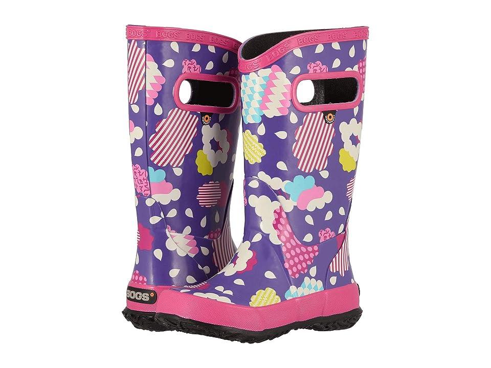 Bogs Kids Rainboot Clouds (Toddler/Little Kid/Big Kid) (Violet Multi) Girls Shoes