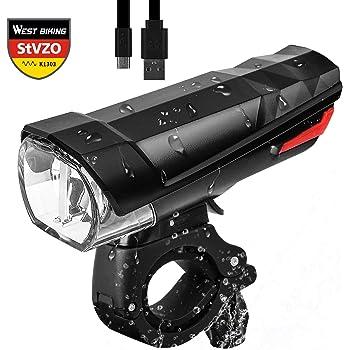 USB LED Fahrradbeleuchtung Fahrrad Licht Fahrad Scheinwerfer Fahrradlampe Stvzo