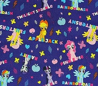100% Cotton Fabric Quilt Prints - My Little Pony Purple Allover s / 45