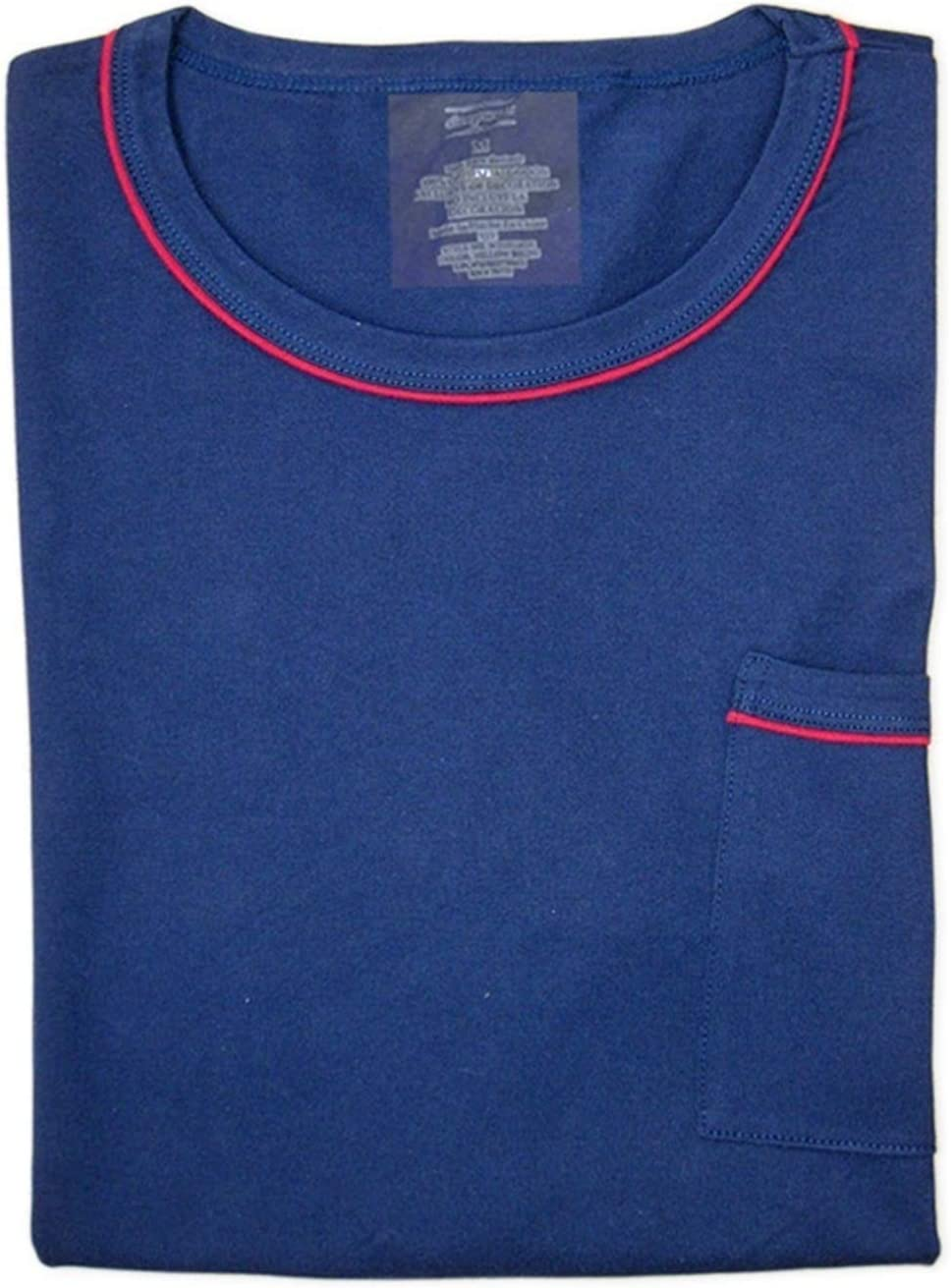 Z.L.FFLZ Sleepwear Sleepwear Men Simple Long Sleeve Pajamas Sets Casual Plaid Trousers Quality Men Homewear Plus Size (Color : Only Blue top, Size : L)