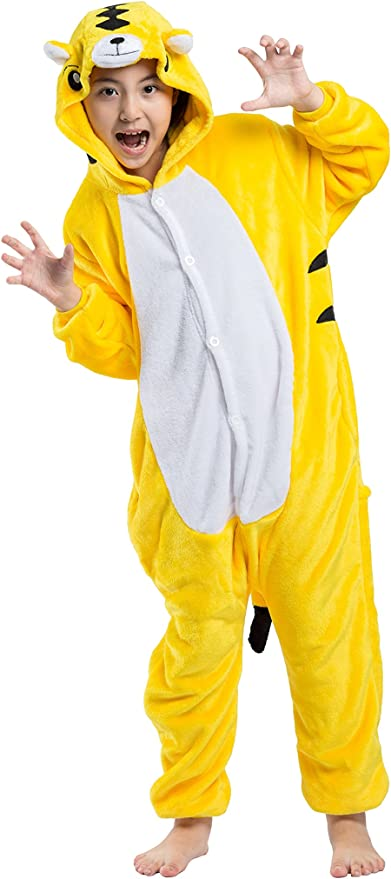 Los Niños Chicos Chicas Bebé Oso Pardo Fancy Dress Costume mameluco Animal Cosplay
