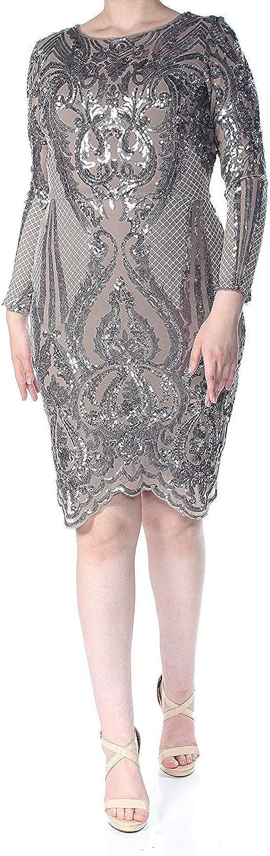 Betsy & Adam Women's Sequined Bodycon Dress