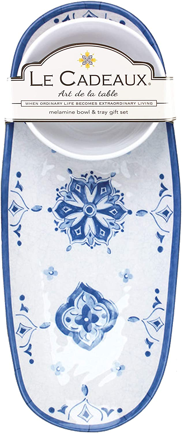 Le Free Shipping New Cadeaux Melamine Bowl and Set Popular Moroccan Tray Blue Gift
