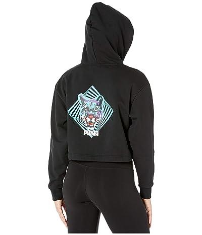 PUMA Claw Cropped Hoodie (PUMA Black) Women