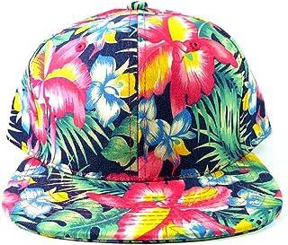 Bright Hawaiian Print Snapback Hat Cap Flat Bill Floral 821e3e1a069
