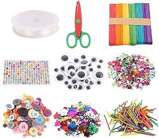 EXCEART Crianças Arte Artesanato Fornece Sortimento Conjunto para Projetos Escolares Atividades Diy Partido Googly Artesa...