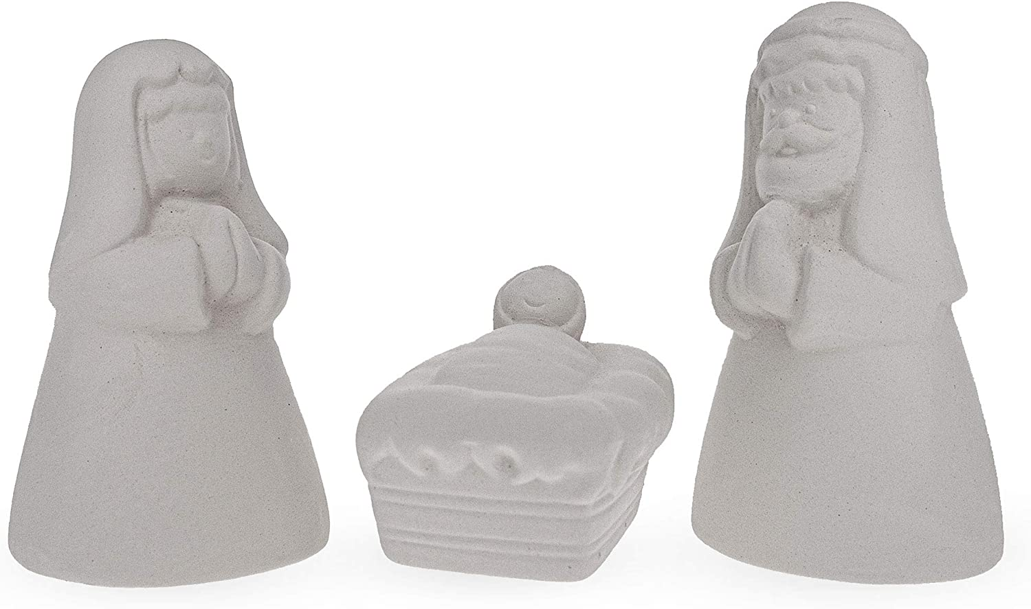 Blank Unpainted Ceramic OFFicial store Nativity Scene Christmas I Don't miss the campaign 3.3 Figurines