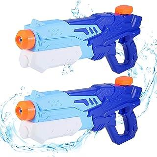 Pistolet a Eau Enfant, 600ML Pistolet a Eau Puissant, Jet d'eau de Tir Jouets pour Enfants et Adulte, Jouets pour Le Plai...